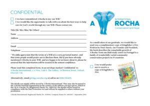 A Rocha - Confidential form - Sept 2013