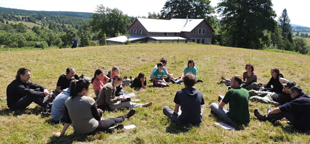 Group work on the practical ornithology course in June. (L & M Petrilákovi)
