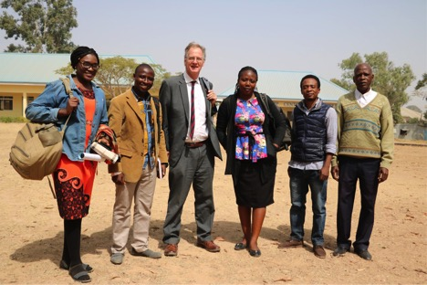 Peter at the ECWA Theological seminary with Chioma (left) and other members of the Eden team and board.