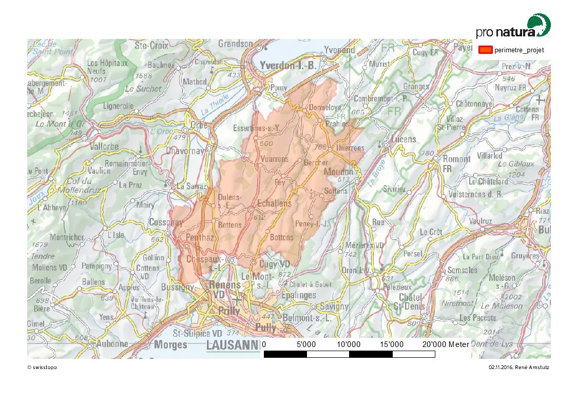 Project perimeter in Gros-de-Vaud